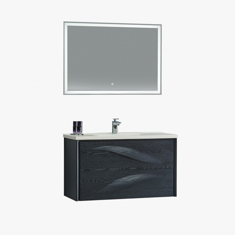 aquavento ensemble salle de bain noir 100 cm. Black Bedroom Furniture Sets. Home Design Ideas