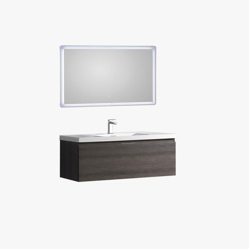 Aquaterra ensemble salle de bain 120 cm gris for Colonne de salle de bain gris anthracite