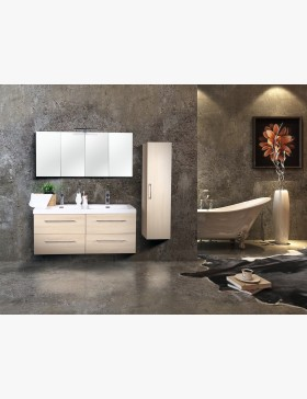 aquazur meuble salle de bain haut 120cm avec 4 miroirs et clairage. Black Bedroom Furniture Sets. Home Design Ideas