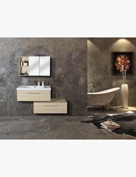 Aquazur meuble salle de bain haut double miroir et for Miroir 90 cm salle de bain