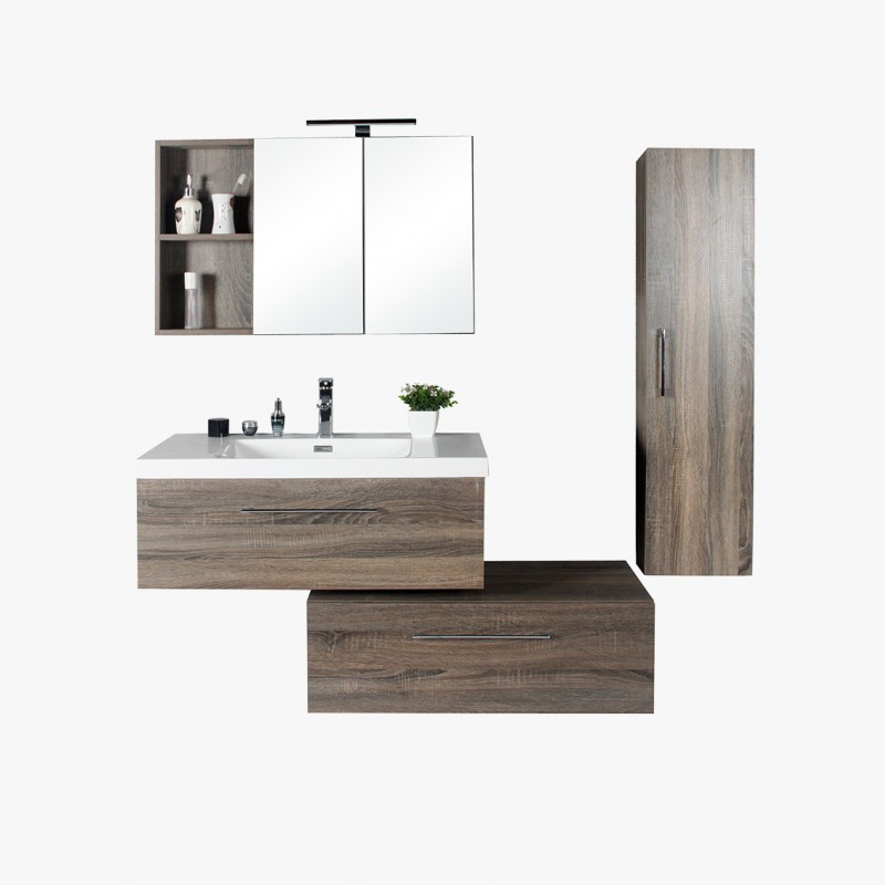 aquasun ensemble de salle de bain 90 cm. Black Bedroom Furniture Sets. Home Design Ideas