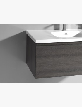 aquaterra meuble salle de bain 120 cm avec 1 tiroirs gris. Black Bedroom Furniture Sets. Home Design Ideas