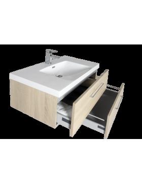Aquazur, meuble salle de bain deux tiroirs décalés