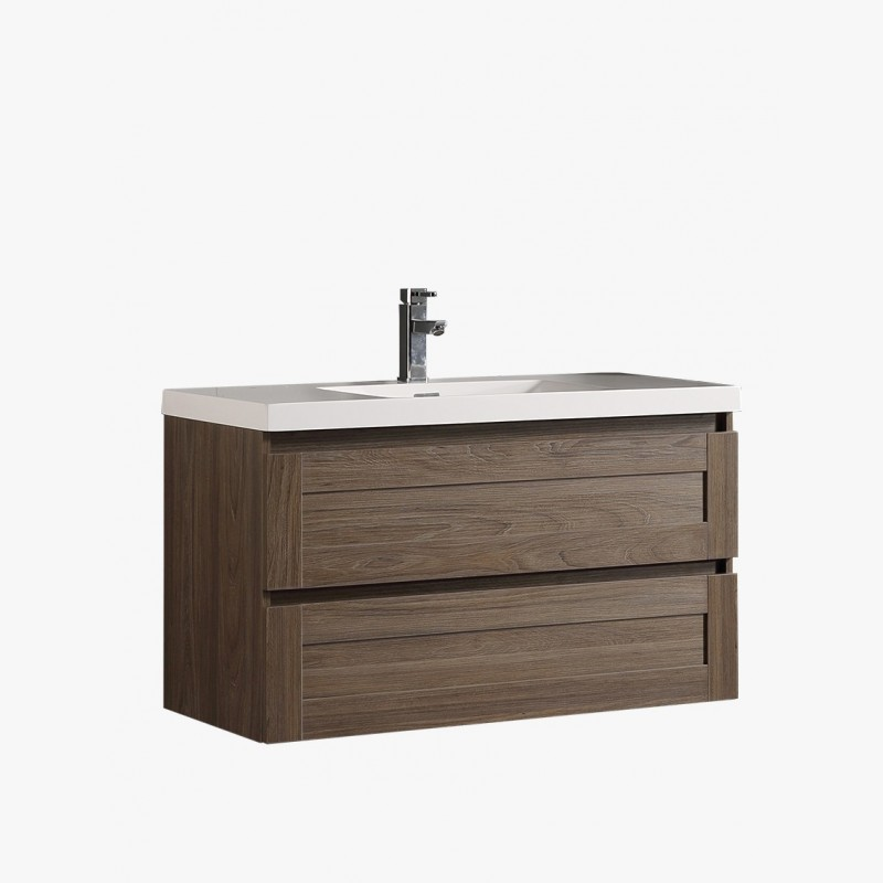 Stunning meuble double vasque 100 cm contemporary design for Ensemble vasque salle de bain