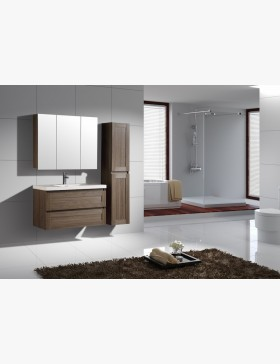 aqualuna meuble salle de bain haut orme gris 80 cm avec clairage led. Black Bedroom Furniture Sets. Home Design Ideas