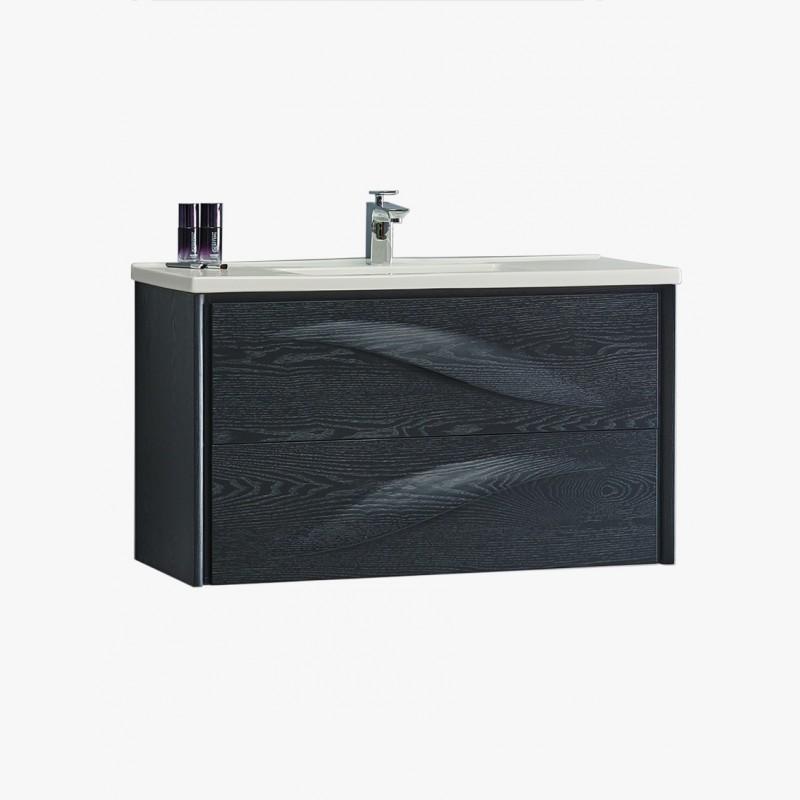 Aquavento meuble salle de bain design ch ne noir for Salle de bain 80cm