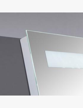 miroir lumineux 80 cm pour salle de bain avec bandeau led haut. Black Bedroom Furniture Sets. Home Design Ideas