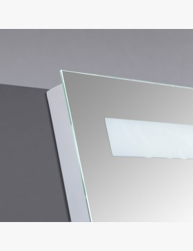 miroir lumineux 120 cm pour salle de bain avec bandeau led. Black Bedroom Furniture Sets. Home Design Ideas