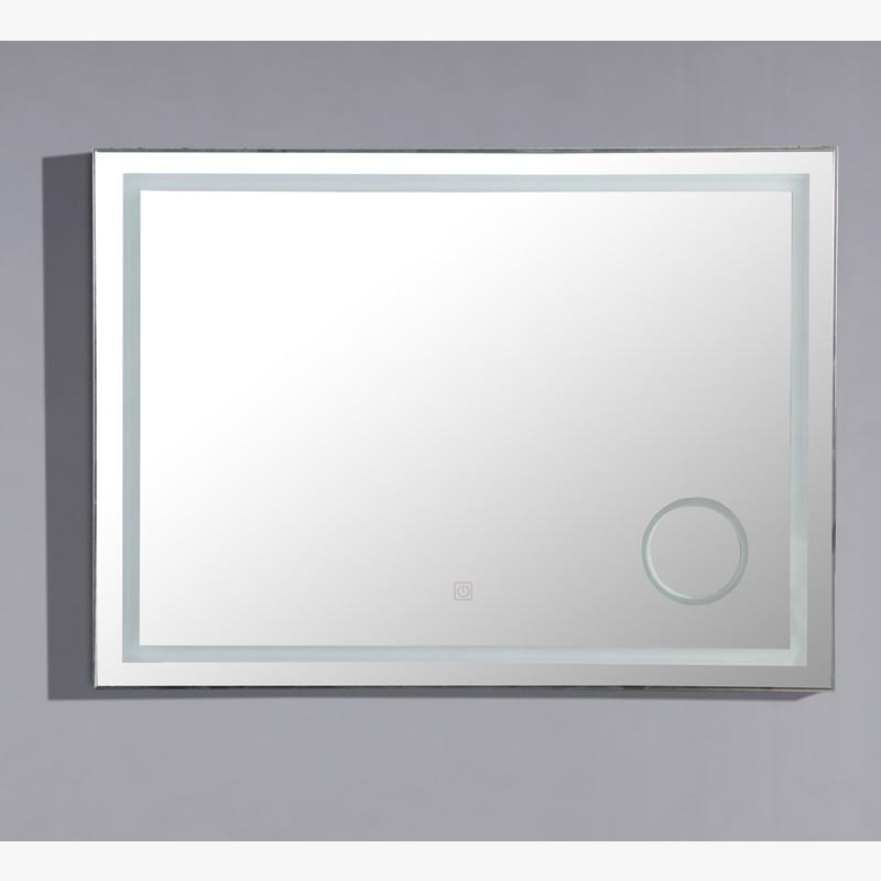 Miroir led zoom 120 cm salle de bain avec loupe r tro clair e for Miroir 120 cm