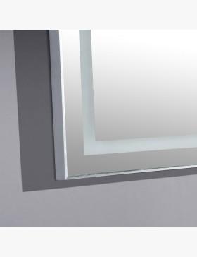 Miroir led zoom 120 cm salle de bain avec loupe r tro clair e for Miroir loupe