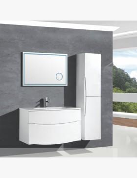 Miroir led zoom 75 cm salle de bain avec loupe r tro clair e for Miroir loupe
