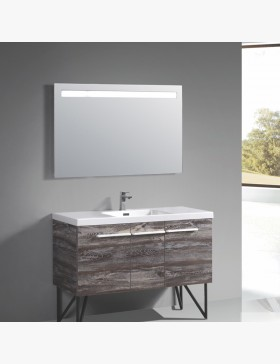miroir lumineux 100 cm pour salle de bain avec bandeau led. Black Bedroom Furniture Sets. Home Design Ideas