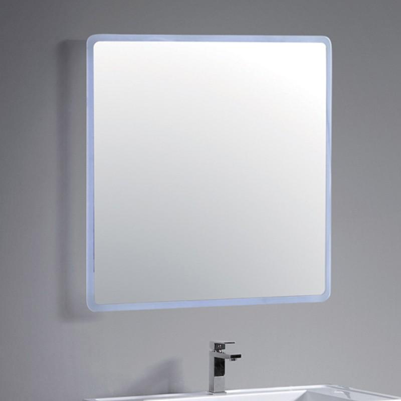 miroir salle de bain led sans bordure 80 cm par 80 cm. Black Bedroom Furniture Sets. Home Design Ideas