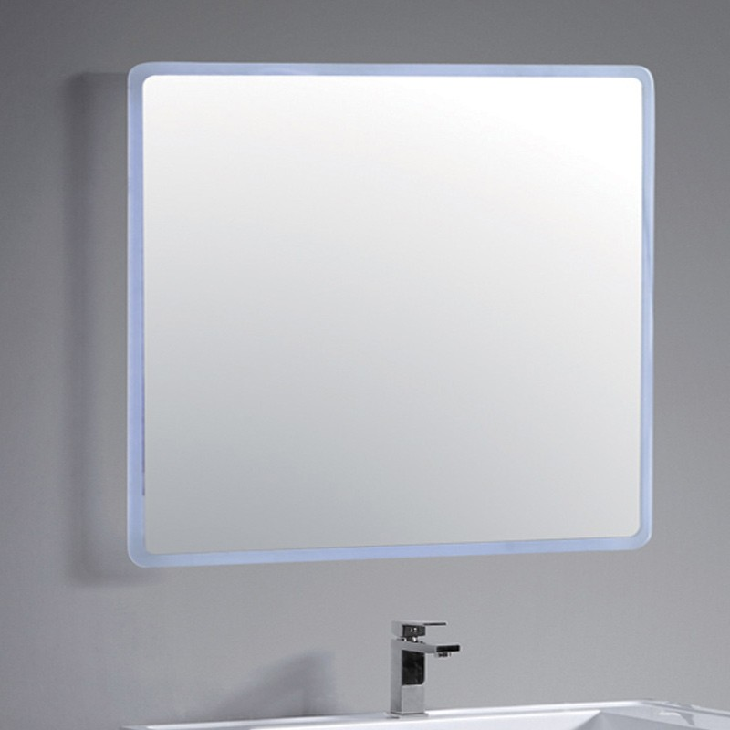 Miroir salle de bain led sans bordure 100 cm par 80 cm for Composition miroir