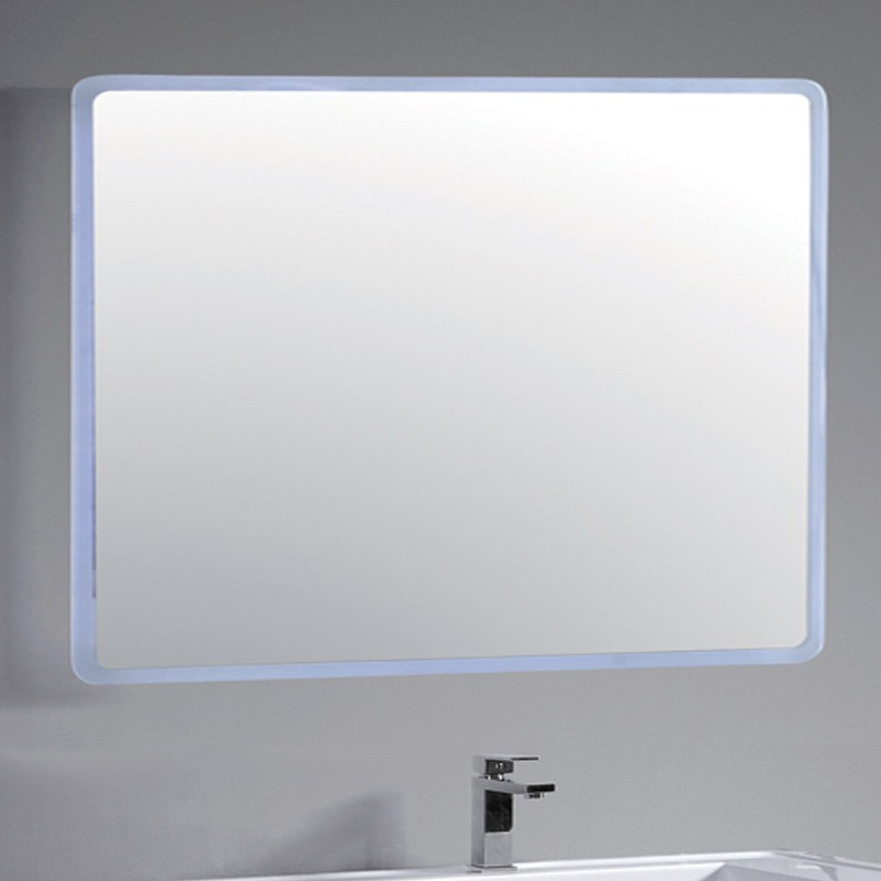 miroir salle de bain led sans bordure 120 cm par 80 cm. Black Bedroom Furniture Sets. Home Design Ideas