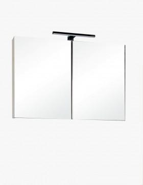 Aquazur meuble salle de bain haut double miroir avec led 80cm - Meuble haut salle de bain avec miroir ...
