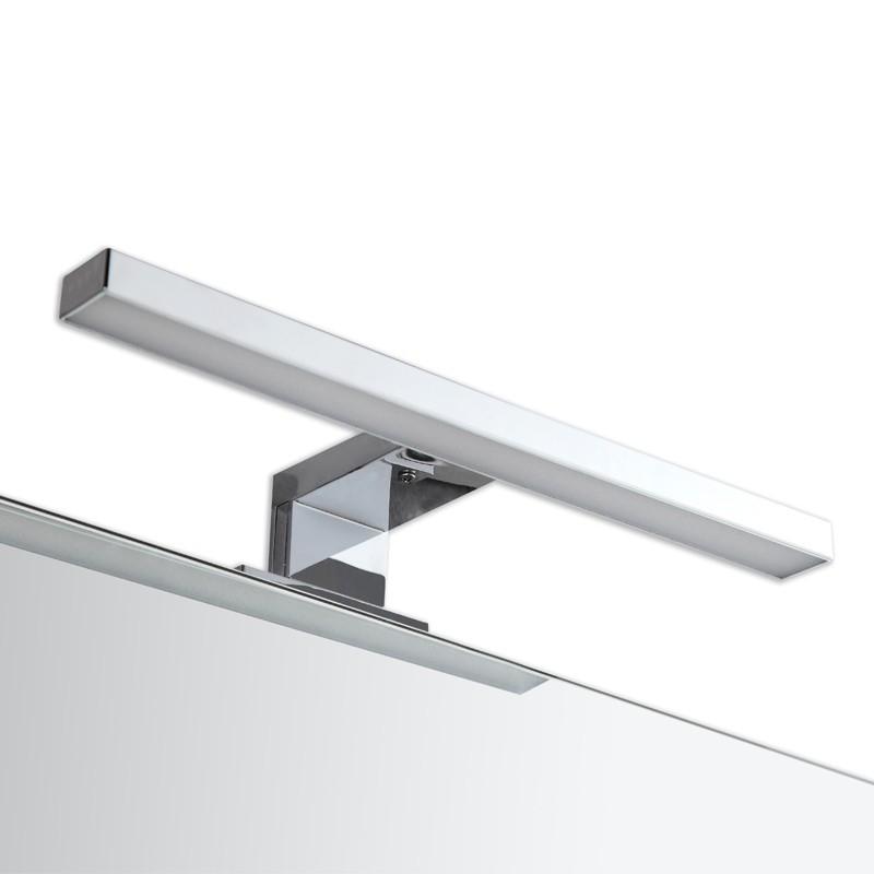 Applique Pour Miroir De Salle Bain Finition Chrome Avec LED Intgres 30 Cm Large Qui Convient Une Installation Au Dessus