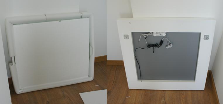 installation miroir de salle de bain led