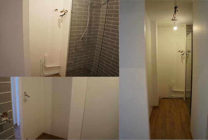 La salle de bain sans les meubles