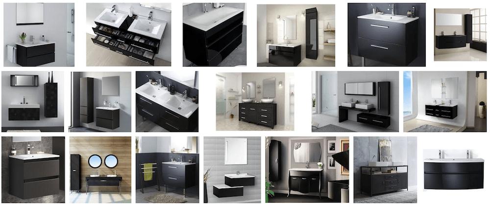 Meubles de salle de bain noir