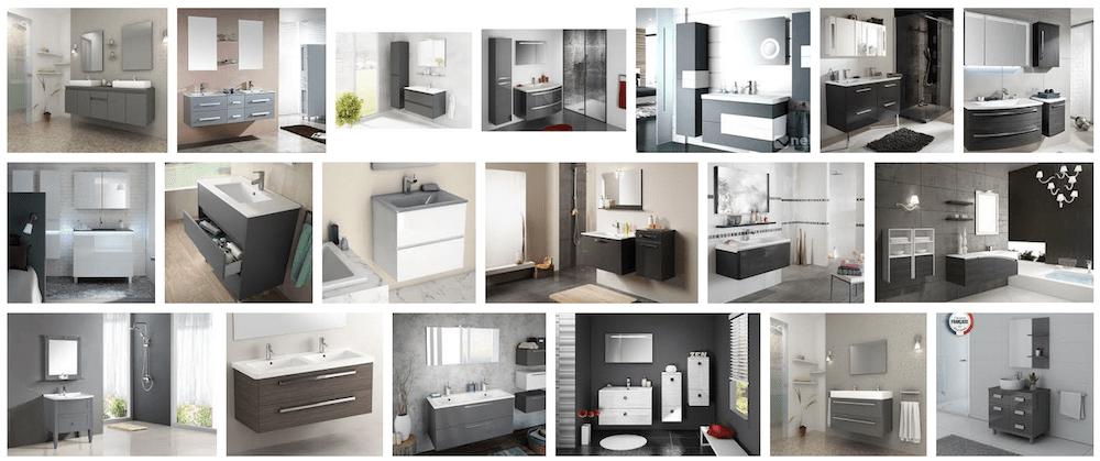 exemple décoration meuble salle de bain gris