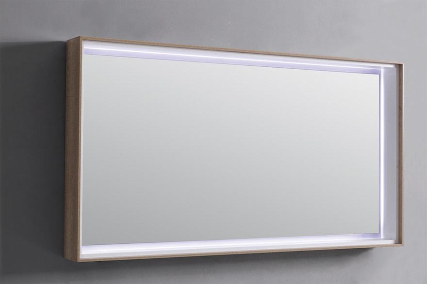 miroir lumineux leds pour salle de bain design prix usine. Black Bedroom Furniture Sets. Home Design Ideas