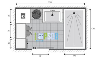 Plan pour meuble de salle de bain de 80 cm